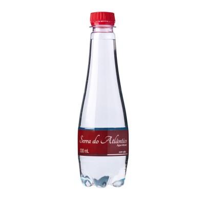 5238 - água mineral com gás Serra do Atlântico finesse 12 x 330ml rótulo vermelho