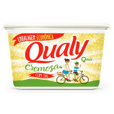 5421 - margarina com sal 80% lipídios Qualy 1kg