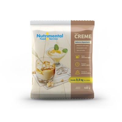 5510 - creme com leite amendoim com doce leite Nutrimental 520g rende 44 porções de 80ml