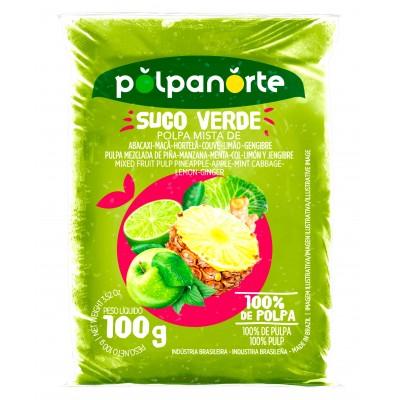 5521 - polpa de suco verde (abac, maçã, hort, couve, limão, geng) Polpa Norte 10 x 100g