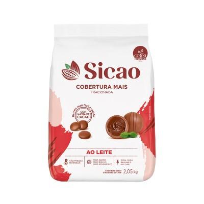 5606 - cobertura chocolate ao leite gotas 2,05kg Sicao mais