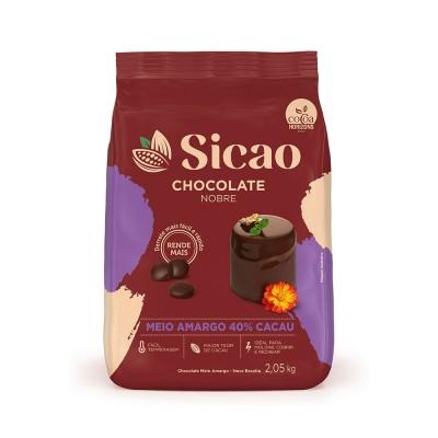 5651 - chocolate meio amargo gotas 2,05kg Sicao Gold