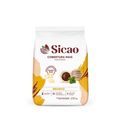 5655 - cobertura chocolate branco gotas 2,05kg Sicao mais