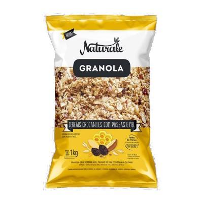 5796 - granola cereais crocantes com passas e mel Naturale 1kg