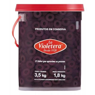 5824 - azeitona preta fatiada La Violetera 1,8kg
