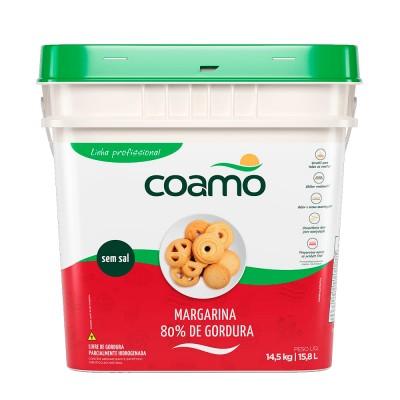 5859 - margarina sem sal 80% lipídios Coamo 14,5kg