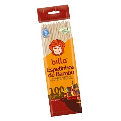 5883 - espeto de bambu Billa 25cm 3mm 50un