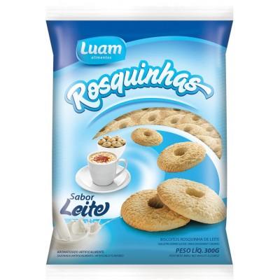 5884 - biscoito rosquinha leite Luam 300g