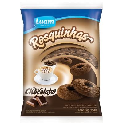 5885 - biscoito rosquinha chocolate Luam 300g