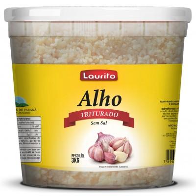 5887 - alho triturado Laurito 3kg