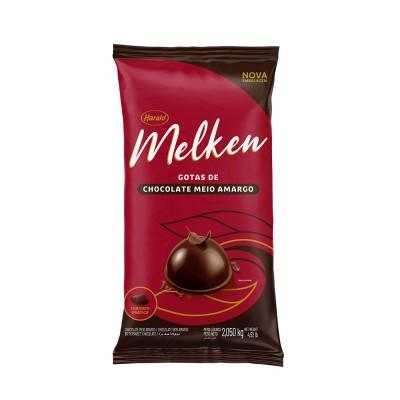 5933 - chocolate meio amargo gotas 2,1kg Melken