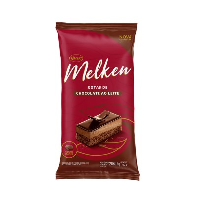 5939 - chocolate ao leite gotas 2,1kg Melken