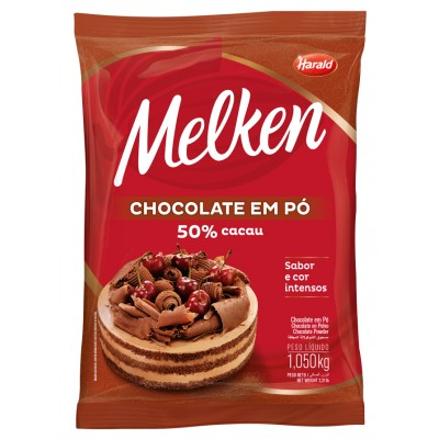 5940 - chocolate pó 50% cacau Melken 1,05kg