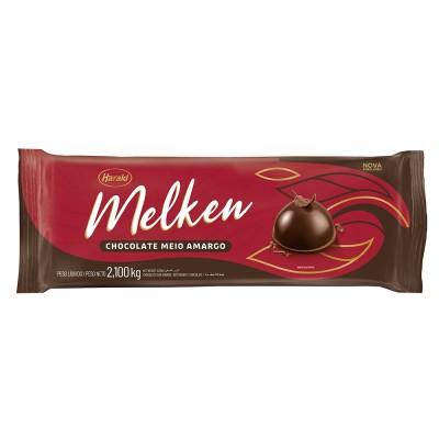 5943 - chocolate meio amargo barra 2,1kg Melken