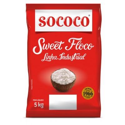 6000 - coco flocos úmido e adoçado Sweet floco Sococo 5kg