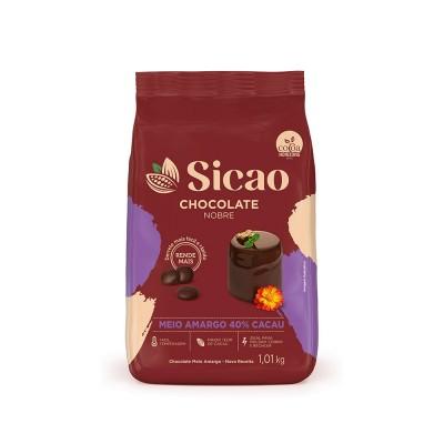 6011 - chocolate meio amargo gotas 1,01kg Sicao Gold