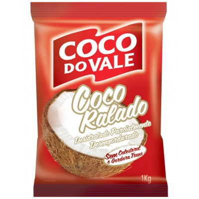 6029 - coco ralado puro desidratado não adoçado coco do Vale 1kg
