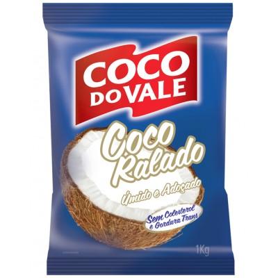 6031 - coco ralado úmido e adoçado Coco do Vale 1kg