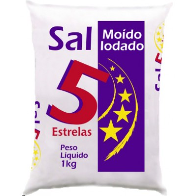 6079 - sal refinado Cinco Estrelas 1kg