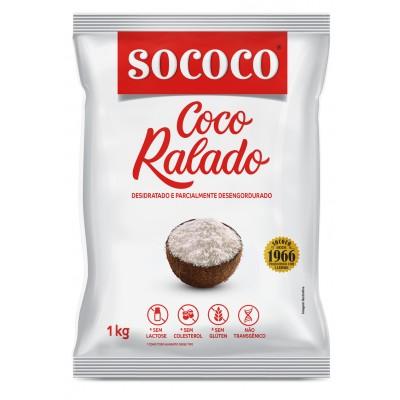 6220 - coco ralado puro desidratado não adoçado Sococo 1kg