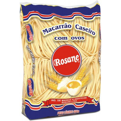 6317 - macarrão caseiro talharim Nº 2 ovos Rosane 500g