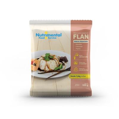 6458 - flan sem leite chocolate Nutrimental 520g rende 95 porções de 80ml