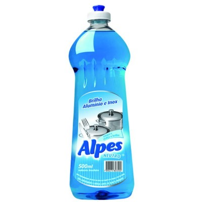 6522 - brilha alumínio e inox neutro Alpes 500ml
