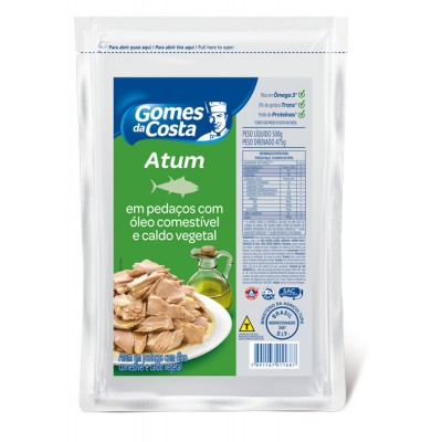 6525 - atum pedaços óleo Gomes da Costa bag 475g