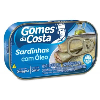 6528 - sardinha óleo Gomes da Costa 84g