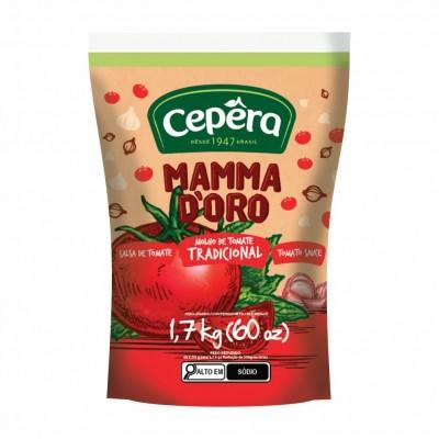 6796 - molho tomate tradicional Mamma D'oro bag 2kg
