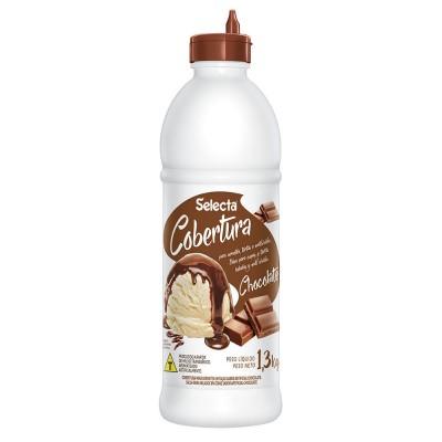 6845 - Selecta cobertura para sorvete chocolate 1,3kg