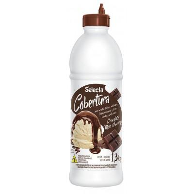 6846 - Selecta cobertura para sorvete chocolate meio amargo 1,3kg