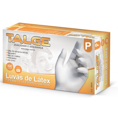 7005 - luva Látex com pó pequena Talge 100un