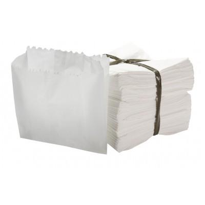 7029 - cartucho kraft branco hamburgão 13 x 12,5cm 500un