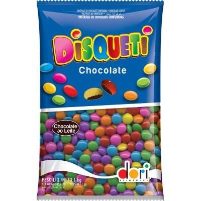 7031 - pastilhas de choc confeitadas e coloridas Disqueti Dori 1,01kg