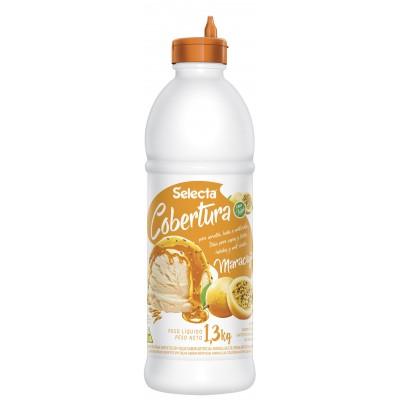 7214 - Selecta cobertura para sorvete com polpa de fruta maracujá 1,3kg