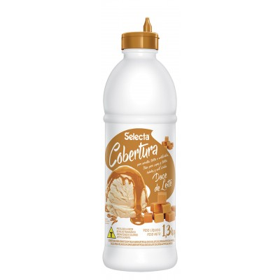 7232 - Selecta cobertura para sorvete doce de leite 1,3kg