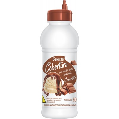 7233 - Selecta cobertura para sorvete chocolate 300g