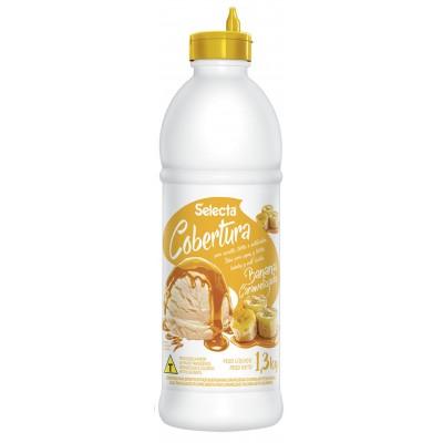 7236 - Selecta cobertura para sorvete banana caramelizada 1,3kg