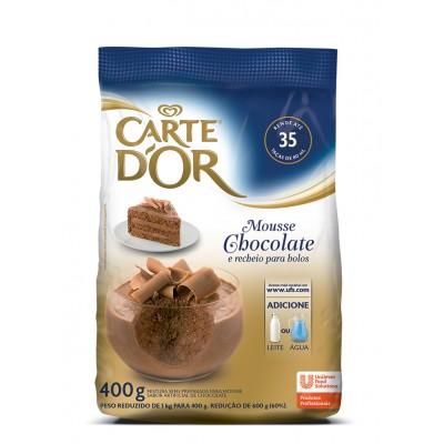 7327 - mousse chocolate Carte 'Dor 400g rende 35 porções de 80ml