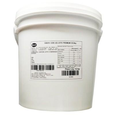 7337 - cobertura Skimó chocolate ao leite premium Harald 12kg