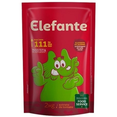 7380 - extrato tomate Elefante bag 2kg brix 16,5%