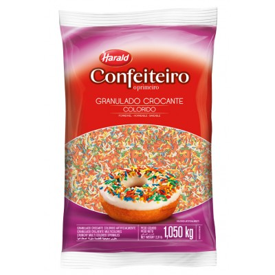 7429 - granulado crocante colorido Confeiteiro 1,05kg