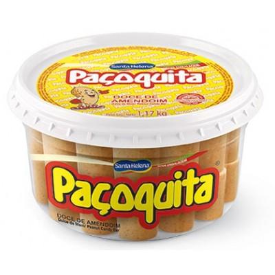 7434 - doce Paçoquita rolha Santa Helena 65 x 18g pote 1,17kg
