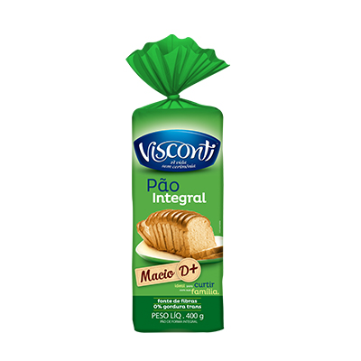 7578 - pão fatiado integral Visconti 400g
