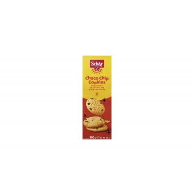 7579 - biscoito choco chip cookies 3 x 33g sem glúten Schär 100g