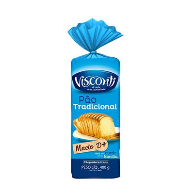 7580 - pão fatiado tradicional Visconti 400g