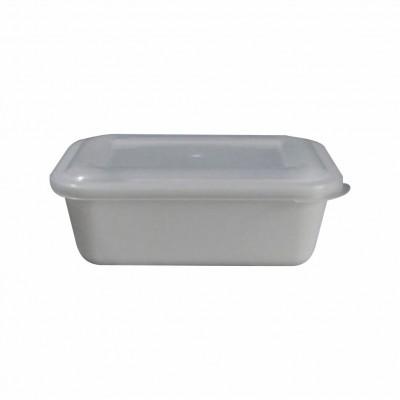 7597 - pote 490ml branco retangular s/tampa freezer/micro Reflet 25un R021 (tampa 7598)