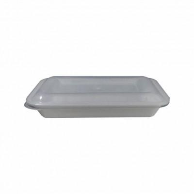 7599 - pote 500ml branco retangular s/tampa freezer/micro Reflet 25un R031 (tampa 7601)