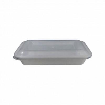7602 - pote 900ml branco retangular s/tampa freezer/micro Reflet 25un R051 (tampa 7604)